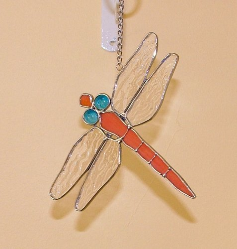 Dragonfly Suncatcher in Stained Glass