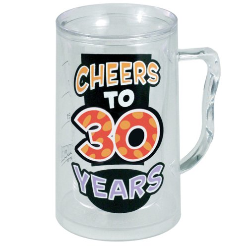 Laid Back C522V Cheers To 30 Years Acrylic Tankard, 14-Ounce