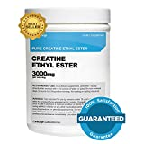 Creatine Ethyl Ester (CEE) - Pure Creatine Ethyl Ester - Rapid Absorption Creatine - 3000mg Per Serving - 100 Servings