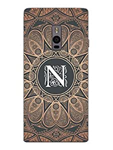 Initial N - Classy And Personalised - Designer Printed Hard Back Shell Case Cover for OnePlus Two Superior Matte Finish OnePlus Two Cover Case