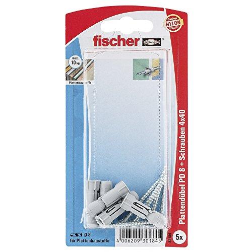 fischer-30184-lot-de-5-chevilles-a-visser-pour-plaque-de-platre-pd-8-sk