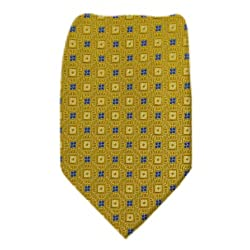 B-10446 - Gold - Gray Boys Silk Fashion Tie