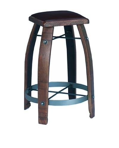 2 Day Designs Chocolate Leather Stool
