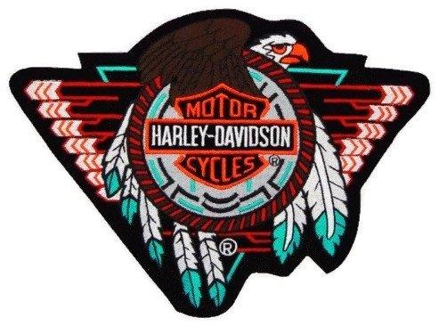 Harley Davidson Rare Concho Eagle Leather Vest Leather Jacket Patch X Large