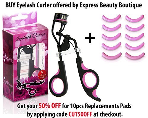 Professional Eyelash Curler with Free Bonus 5 Replacement Pads! Full 1 Year Guarantee. Buying from other sellers voids your warranty.