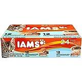IAMS Pate Adult Wet Cat Food, Variety Pack Salmon & Ocean Fish, 3 oz. (Pack of 24)