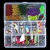 zolink Fishing Set(100pcs)Hard Fishing Lure,soft Fishing Lures,metal Fishing Lures