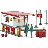 Shell-Tankstelle der 1960er Jahre, Modellauto, Fertigmodell, Wiking / PMS 1:87