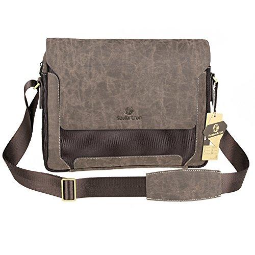 Mens Canvas Pu Shoulder Bag Handbags Briefcase for the Offic