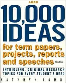 Idea for term paper topics