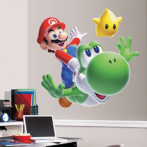 Super Mario Galaxy 2 Wii Mega Decal Pack - Includes Nintendo Super Mario Galaxy 1 Giant Mario And Yoshi Decal (5 Pieces) And 32 Wall Decals front-1080506