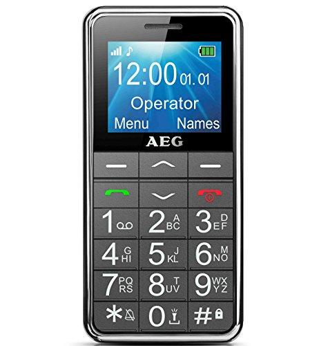 AEG Voxtel M250 Telefono Cellulare, Nero