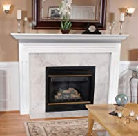 Pearl Mantels 510-48 Newport 48-Inch Fireplace Mantel Surround with Medium Density Fiberboard, White from Pearl Mantels