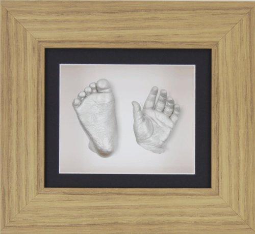 New 3D Baby Casting Kit Silver Imprint Impression Foot Cast Christening Gift Set