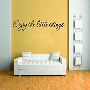 Enjoy the Little Things Wall Sticker Paper Removable Art Vinyl Quote Mural Home Decor By FamilyMall