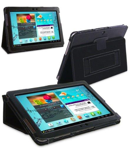 Navitech schwarzes Bycast Leder trage Case / Cover mit Ständer für das Samsung Galaxy Tab 2 / Tab2 Tablet 10.1 Inch GT-P5113 Android 4.0