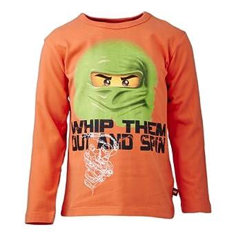 Lego wear - ninjago - t-shirt - garçon - orange (tropic orange) - 11 ans