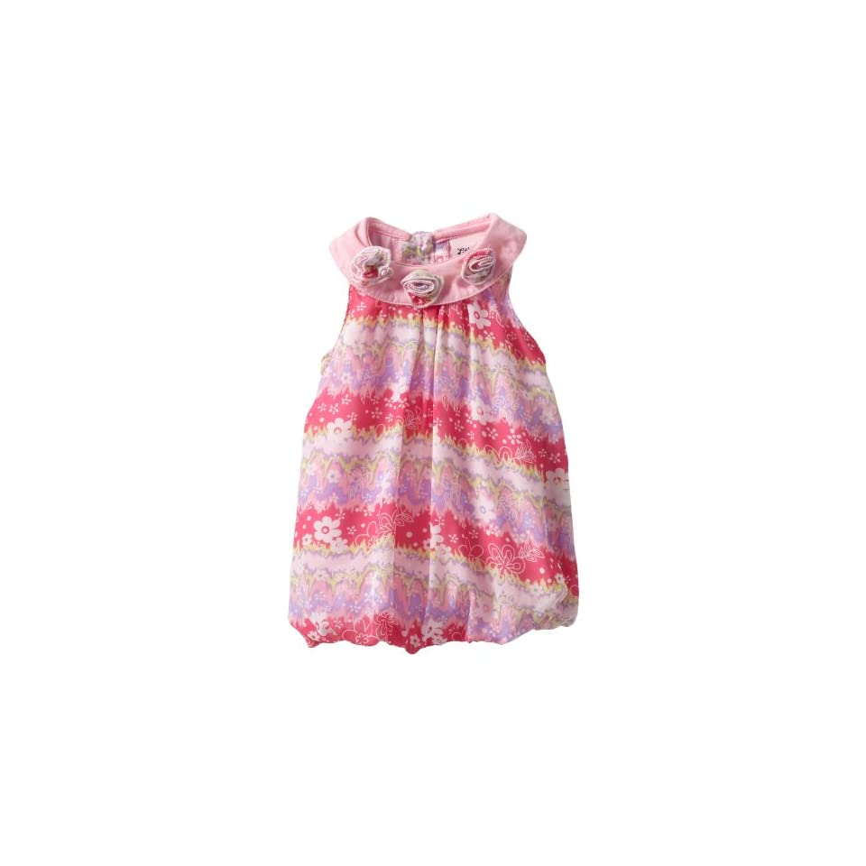Little Lass Baby Girls 1 Piece Bubble Creeper With Printed Flowers, Pink, 18 Months