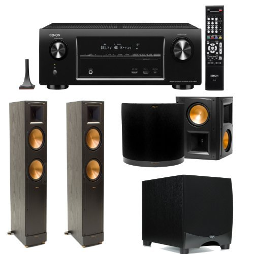Denon Avr-X4000 7.2 Channel 4K Networking Home Theater Receiver Plus A Pair Of Klipsch Rf-82 Ii Tower Speakers, A Pair Of Klipsch Rs-62 Ii Surround Speakers & A Klipsch Rw-12Ii 12-Inch Powered Subwoofer!