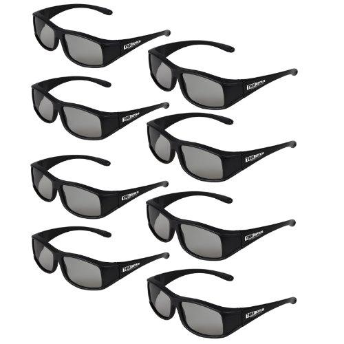 True Depth 3D® Circular Polarized Glasses for Passive LG 3D TVs (8 Pairs!)