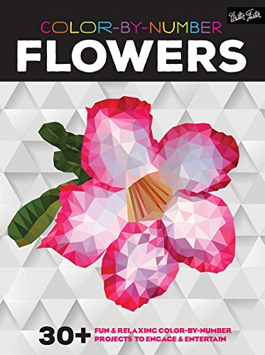 Color-by-Number: Flowers: 30+ fun & relaxing color-by-number projects to engage & entertain (Paint By Numbers Book compare prices)