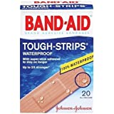 Band-Aid Brand Adhesive Bandages, Tough-Strips, Waterproof, 20-Count All-One-Size Bandages (Pack of 6)