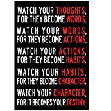 Wall Sticker, Hatop 13 x 19inch Creative Watch Your Thoughts Motivational Poster