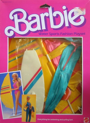 Barbie Water Sports Fashion Playset - Swimming & Surfing Fun! (1984)