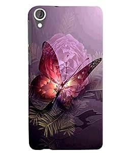 Citydreamz Butterflies\Flowers Hard Polycarbonate Designer Back Case Cover For HTC Desire 828