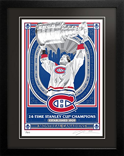 Montreal Canadiens 24-Time Champions Limited Edition Sports Propaganda Serigraph Framed