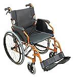 Aidapt VA165ORANGE Deluxe Leichtgewichtiger Rollstuhl aus...