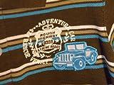 Baby Boys 2 Piece Brown Blue Striped Kid's Jeep Polo Shirt and Jeep Khaki Pants Set