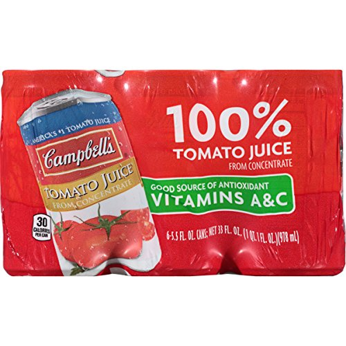 Campbell's Tomato Juice, 5.5 Fl Oz Cans (Pack of 6) (1 Can Tomato Soup compare prices)