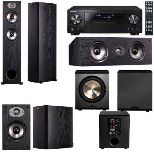 Polk Audio TSX330T 5.1 Home Theater System (Black)-Pioneer VSX-1123-K 7.2
