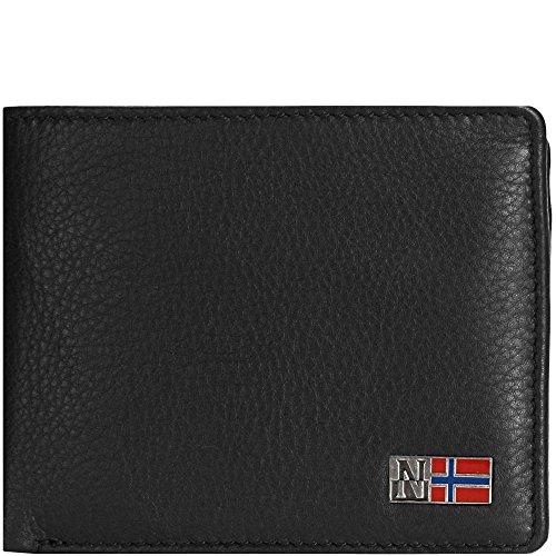 Napapijri portafoglio uomo pelle 4ANN4U01 nero