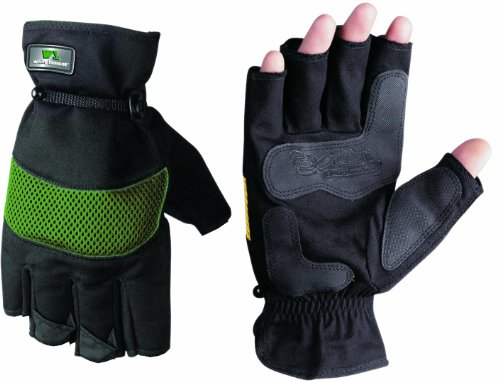Images for Wells Lamont 836L Fingerless Mens Work Gloves, Stretch Canvas Back, Colors May Vary, Large
