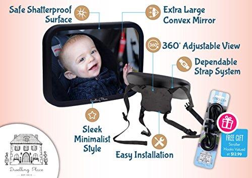Dwelling-Place-Baby-Car-Mirror--FREE-GIFT-Stroller-Hooks--Luxury-Gift-Box--Back-Seat-Rear-facing-Infant-Car-Seat