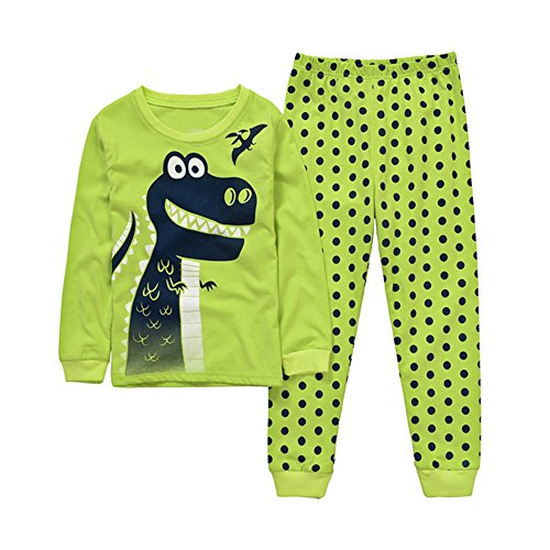 Backbuy-Enfants-Garons--Manche-Longue-Dots-Pyjama-Dinosaure