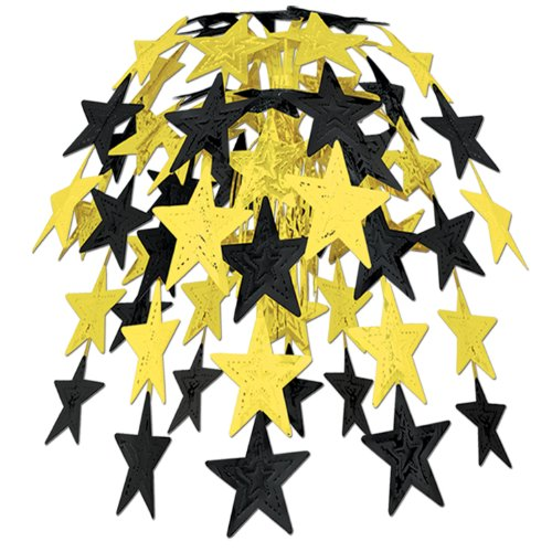 Star Cascade (gold) Party Accessory  (1 count) (1/Pkg)