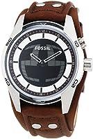 Fossil - JR1471 - Montre Homme - Quartz Analogique et digitale - Bracelet Cuir Marron