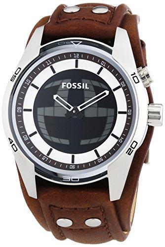 Fossil Herren-Armbanduhr XL Coachman Analog - Digital Quarz Leder JR1471