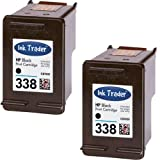 2x Remanufactured HP 338 Black Ink Cartridges For use with HP Photosmart 2610 Printers - By Ink Trader