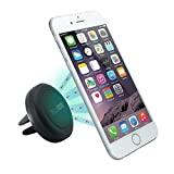Car Mount, TechMatte® MagGrip Vent Magnetic Universal Car Mount Holder (Black) For The Apple IPhone 6 6 Plus,...