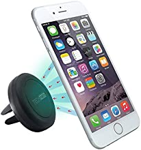 Car Mount, TechMatte® MagGrip Vent Magnetic Universal Car Mount Holder (Black) for the Apple iPhone 6 6 Plus, iPhone 5S 5C 5 4S4, Samsung Galaxy S6 S5 S4 S3, Nexus 5 4 [Case Sold Separately]
