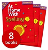 Various At Home With... 8 Book Collection: Ages 5-7 - RRP 31.92: Phonics, Maths, Times Tables, English, Handwriting 1 & 2, Spelling 1 & 2.