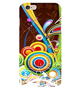 Multicolor Circular Pattern 3D Hard Polycarbonate Designer Back Case Cover for Apple iPhone 6 Plus