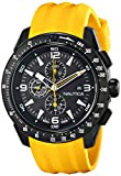 Nautica Mens N18599G NST 101 Stainless Steel Watch with Yellow Resin Band