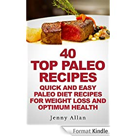 40 Top Paleo Recipes - Quick and Easy Paleo Diet Recipes For Weight Loss & Optimum Health