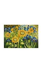 Arte Dal Mondo Pintura al Óleo sobre Lienzo Van Gogh Girasoli Ed Iris