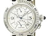 [カルティエ]Cartier【CARTIER】カルティエ パシャ 38 GMT パワーリザーブ ステンレススチール レザー 自動巻き メンズ 時計W31037H3(BF111363)[中古]